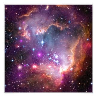 O roxo Stars a astronomia de espaço da galáxia Impressão De Foto
