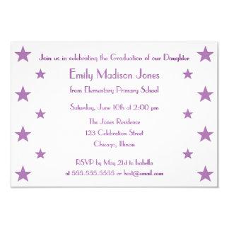 O roxo Stars o convite da festa de formatura da