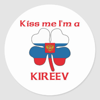 O russo personalizado beija-me que eu sou Kireev Adesivos Redondos