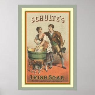O sabão irlandês 13 x 19 de Schultz do poster do