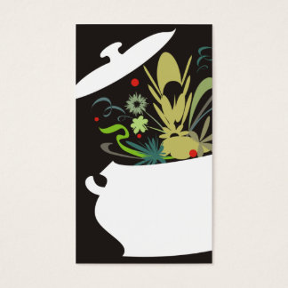 o sabor do pote do cozinhar estourou o negócio de cartão de visitas