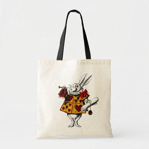 O saco branco da sacola do coelho bolsas de lona