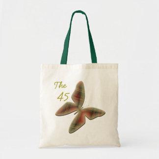 O saco da borboleta do Tartan da independência de Sacola Tote Budget