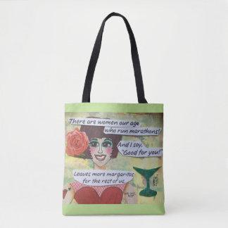 O saco de bolsa lá é mulheres nossas maratonas do