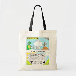 O saco de compras reusável da alameda de tira bolsas para compras