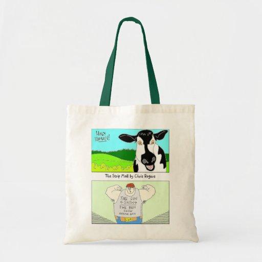 O saco de compras reusável da alameda de tira bolsas