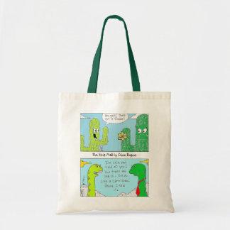 O saco de compras reusável da alameda de tira bolsas de lona