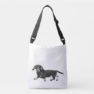 O saco do design do cão do Dachshund, dobra tomado Bolsa Ajustável