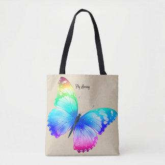 O saco do mercado do bolsa de pano da borboleta