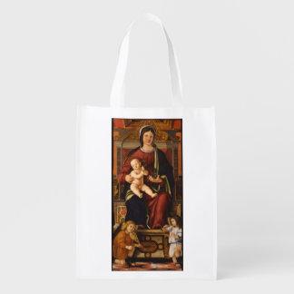 """""""O saco reusável do Virgin e da criança"""" Sacolas Ecológicas Para Supermercado"""
