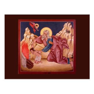 O sacrifício do cartão da oração de Abraham