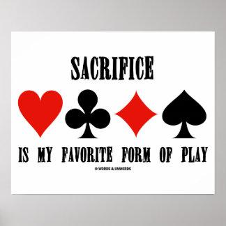 O sacrifício é meu formulário favorito do jogo poster