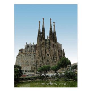 O Sagrada Familia, Barcelona, espanha Cartão Postal
