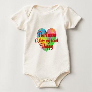 O salão de baile colore meu coração feliz body para bebê