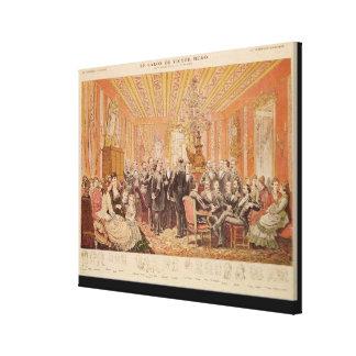 O salão de beleza de Victor Hugo Impressão De Canvas Esticada