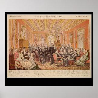 O salão de beleza de Victor Hugo Posteres