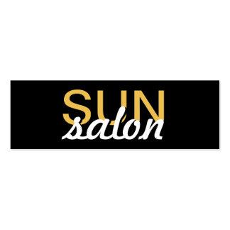 o salão de beleza do sol manicures o cartão de cartão de visita skinny