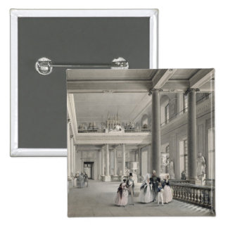 O salão de entrada superior da academia das belas  bóton quadrado 5.08cm