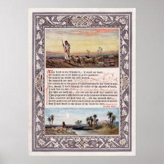 O salmo 23 o senhor é meu pastor pôster