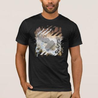 O salto. Camisa surfando do papagaio com nome