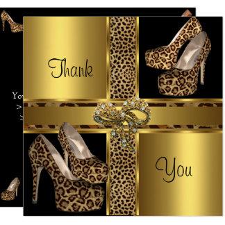 O salto dos cartões de agradecimentos olá! calça o