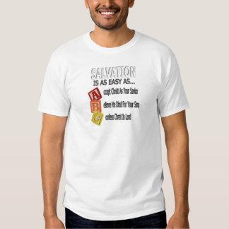 O salvação é fácil como ABC Tshirts