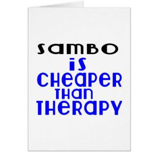 O Sambo é mais barato do que a terapia Cartão