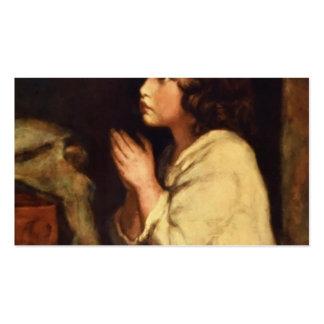 O Samuel infantil na oração por Joshua Reynolds Modelo Cartão De Visita