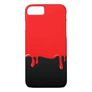 O sangue gotejou a capa de telefone
