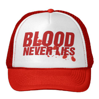 O sangue nunca encontra-se chapéu do camionista bones