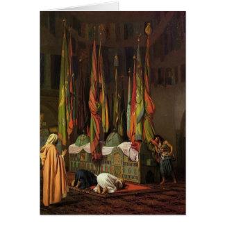 O santuário da imã Hussein por Jean-Leon Gerome Cartão Comemorativo