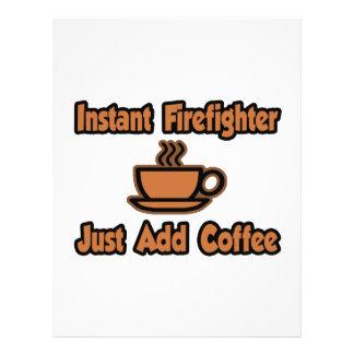 O sapador-bombeiro imediato… apenas adiciona o caf modelo de panfleto