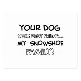 O sapato de neve é design da família cartão postal