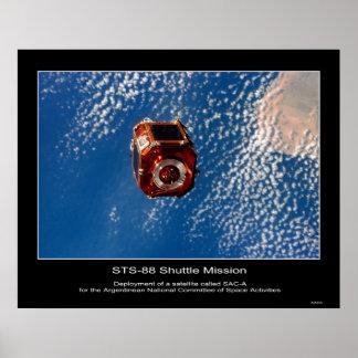 O satélite argentino de SAC-A distribui… Impressão