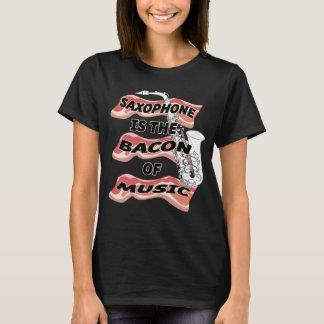 O saxofone é o bacon da música camiseta