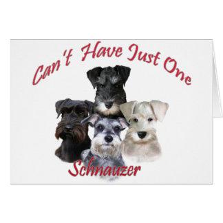 O Schnauzer não pode ter apenas um carda Cartão