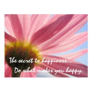 O segredo ao cartão da felicidade
