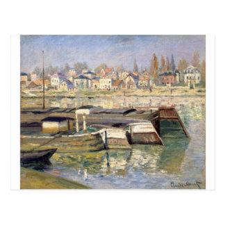 O Seine em Asnieres por Claude Monet Cartão Postal