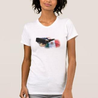 O Sem mangas T Camisa da senhora com Eagle e a