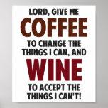 O senhor, dá-me o café e o vinho impressão