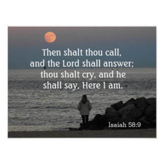 O senhor deve 58:9 do answer~~Isaiah - impressão