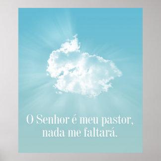 O Senhor é meu pastor, nada me faltará. Posteres