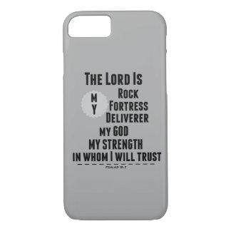 O senhor é meu verso da bíblia da rocha capa iPhone 7
