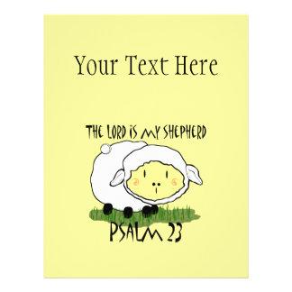 O SENHOR é minha t-camisa U da criança do salmo 23 Modelo De Panfletos