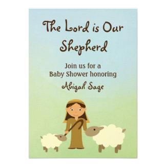 O senhor é nosso carneiro que do pastor o chá de f convite personalizado