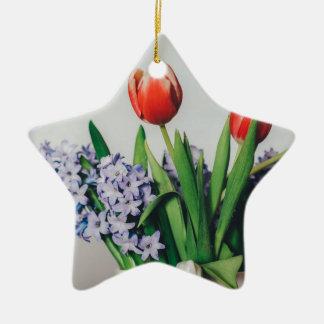 O senhor mesmodê- um sentimento positivo ornamento de cerâmica estrela