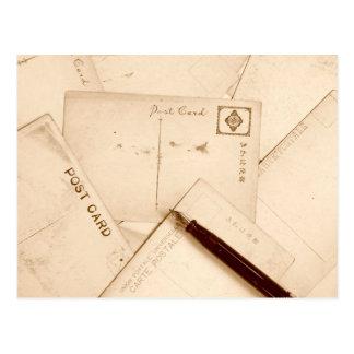 O Sepia tonificou cartão do vintage