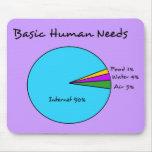 O ser humano básico engraçado precisa (o Internet Mouse Pad