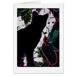 o serenade do gato cartão de nota