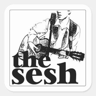 """""""o sesh"""" 3"""" etiqueta do quadrado branco adesivo quadrado"""